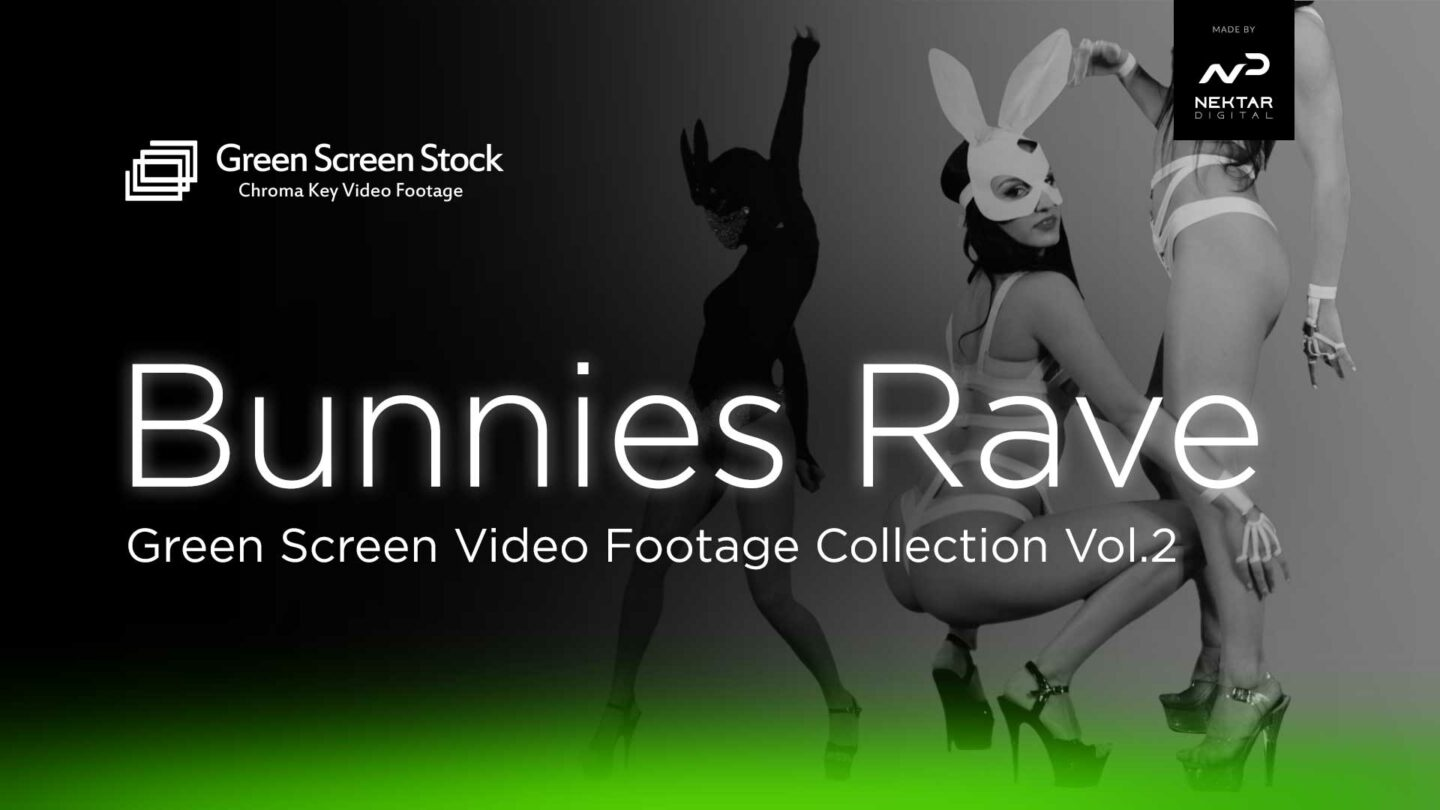 Bunnies Rave Dance - Green Screen Video Footage Collection Vol.2