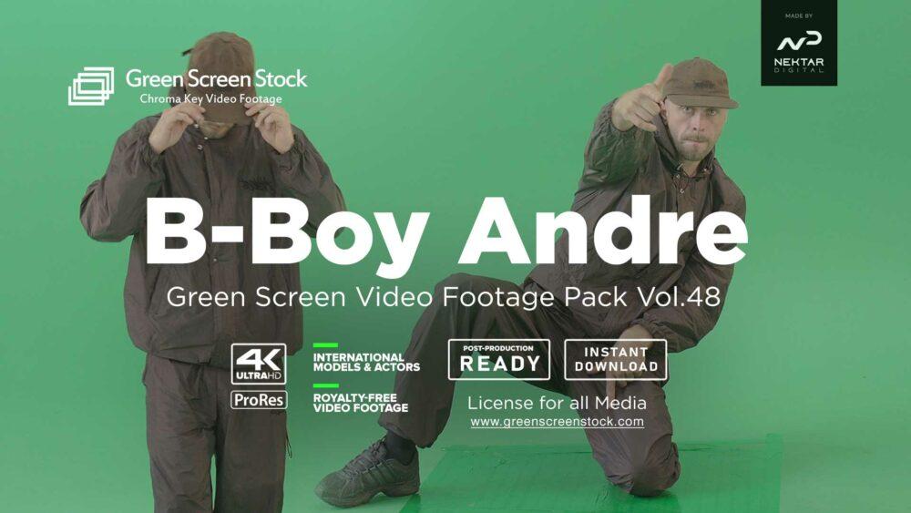 B-boy-Andre breakdance on green screen