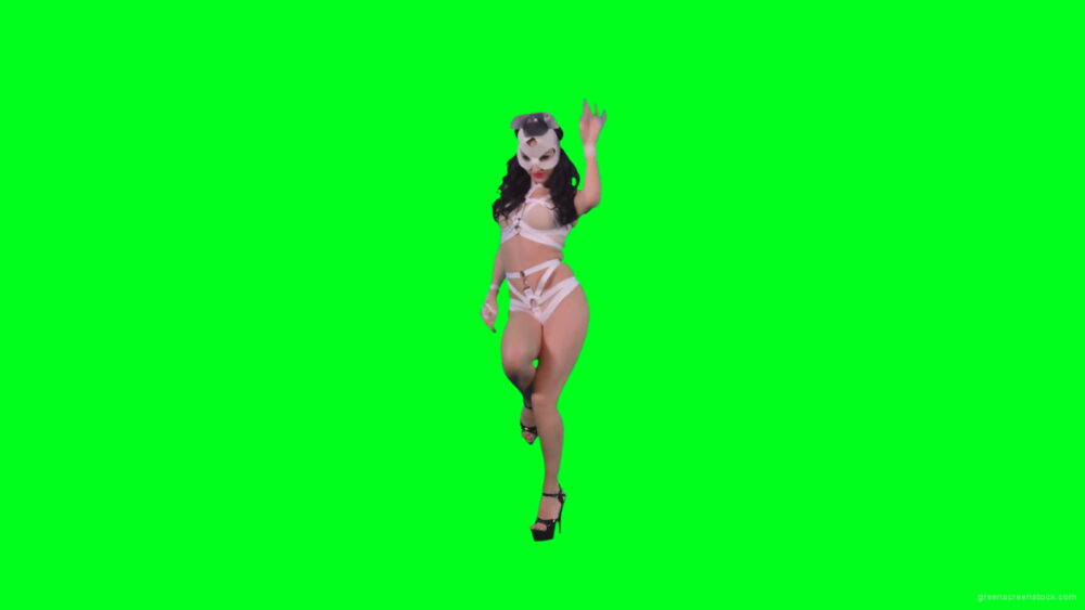 vj video background Black-hair-sexy-girl-in-playboy-costume-dancing-go-go-on-green-screen-4K-Video-Footage-1920_003