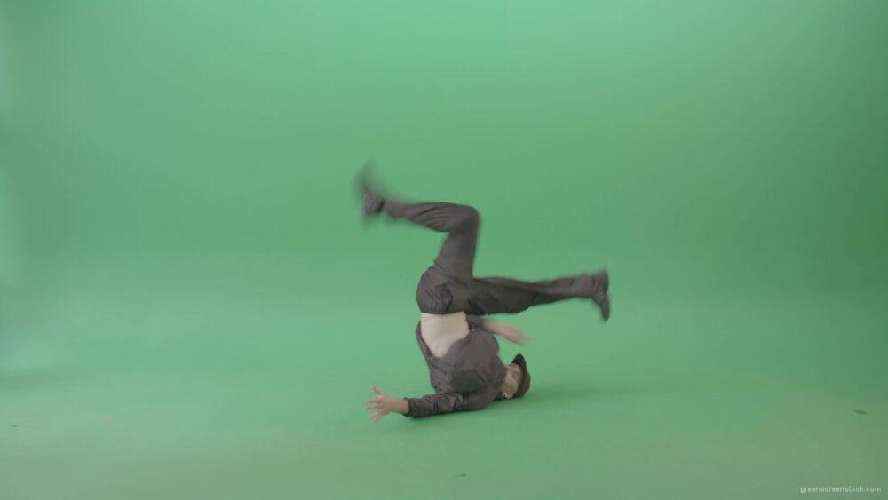 Break-Dancer-B-Boy-making-Freeze-HipHop-Elements-over-green-screen-4K-Video-Footage-1920_009 Green Screen Stock