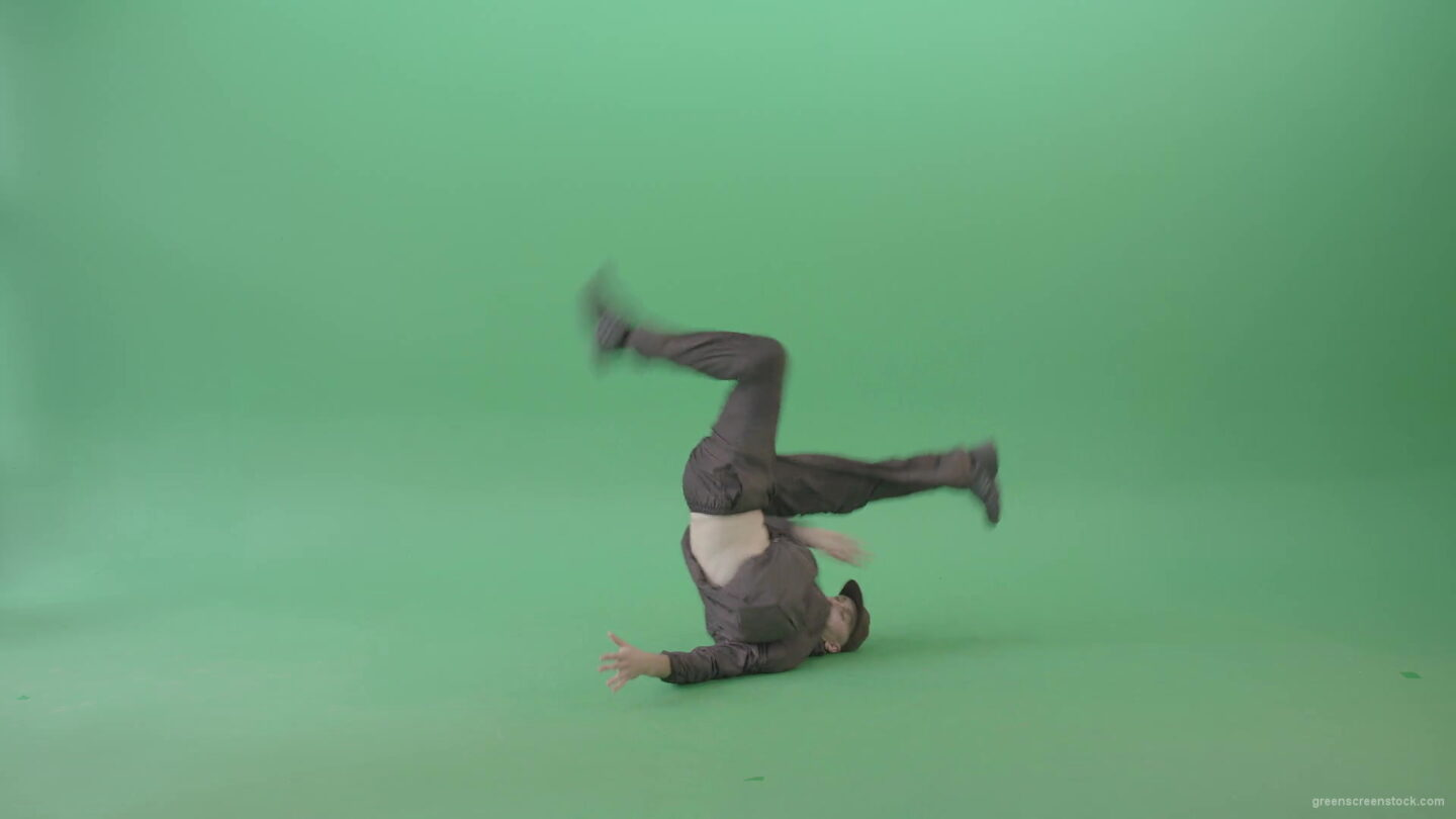 Break-Dancer-B-Boy-making-Freeze-HipHop-Elements-over-green-screen-4K-Video-Footage-1920_009 Green Screen Stock