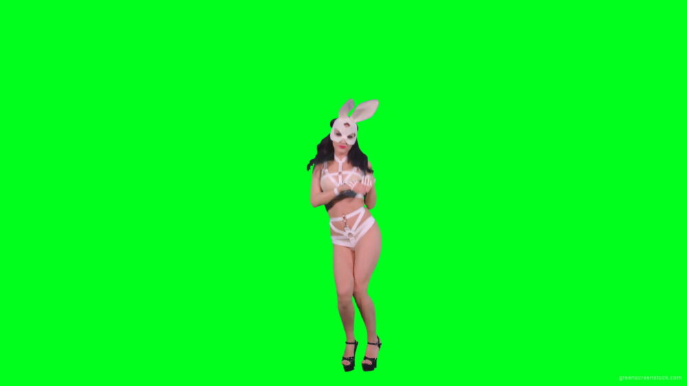 vj video background Hot-Go-go-Dancing-girl-is-jumping-over-green-screen-4K-Video-Footage-1920_003
