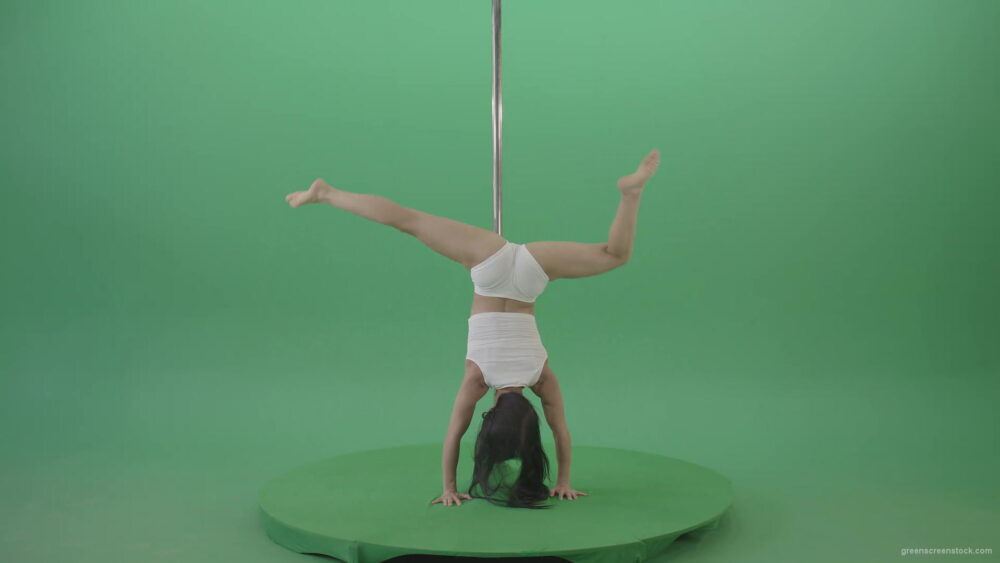 vj video background Pole-Dance-Girl-waving-two-legs-isolated-on-green-screen-4K-Video-Footage-1920_003