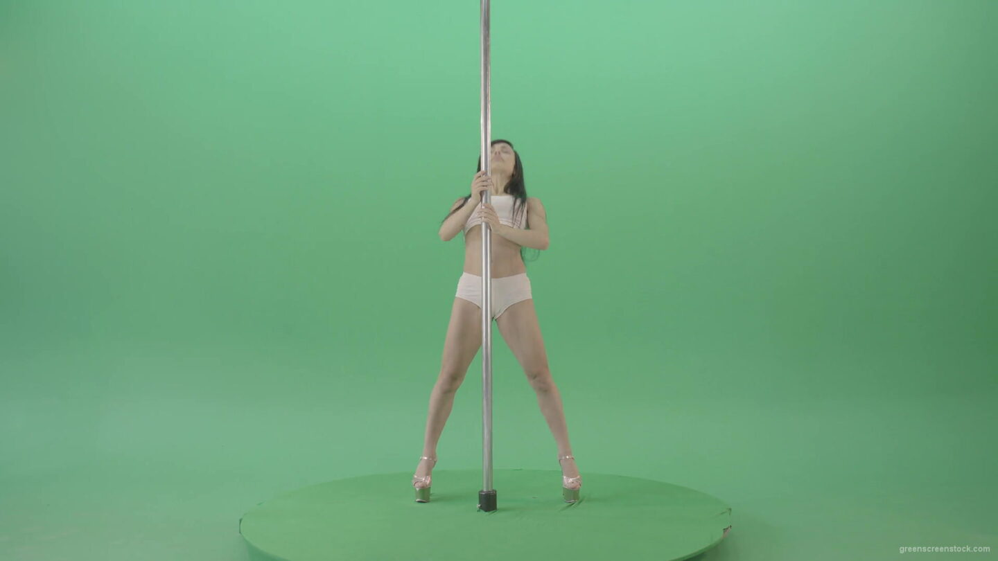 vj video background Pole-Dance-sport-girl-waving-sexy-body-isolated-on-green-screen-4K-Video-Footage-1920_003