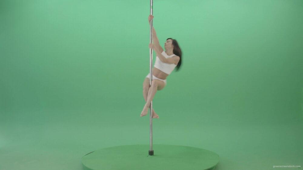 vj video background Pole-dance-trainer-girl-has-a-sport-flight-on-green-screen-4K-Video-Footage-1920_003