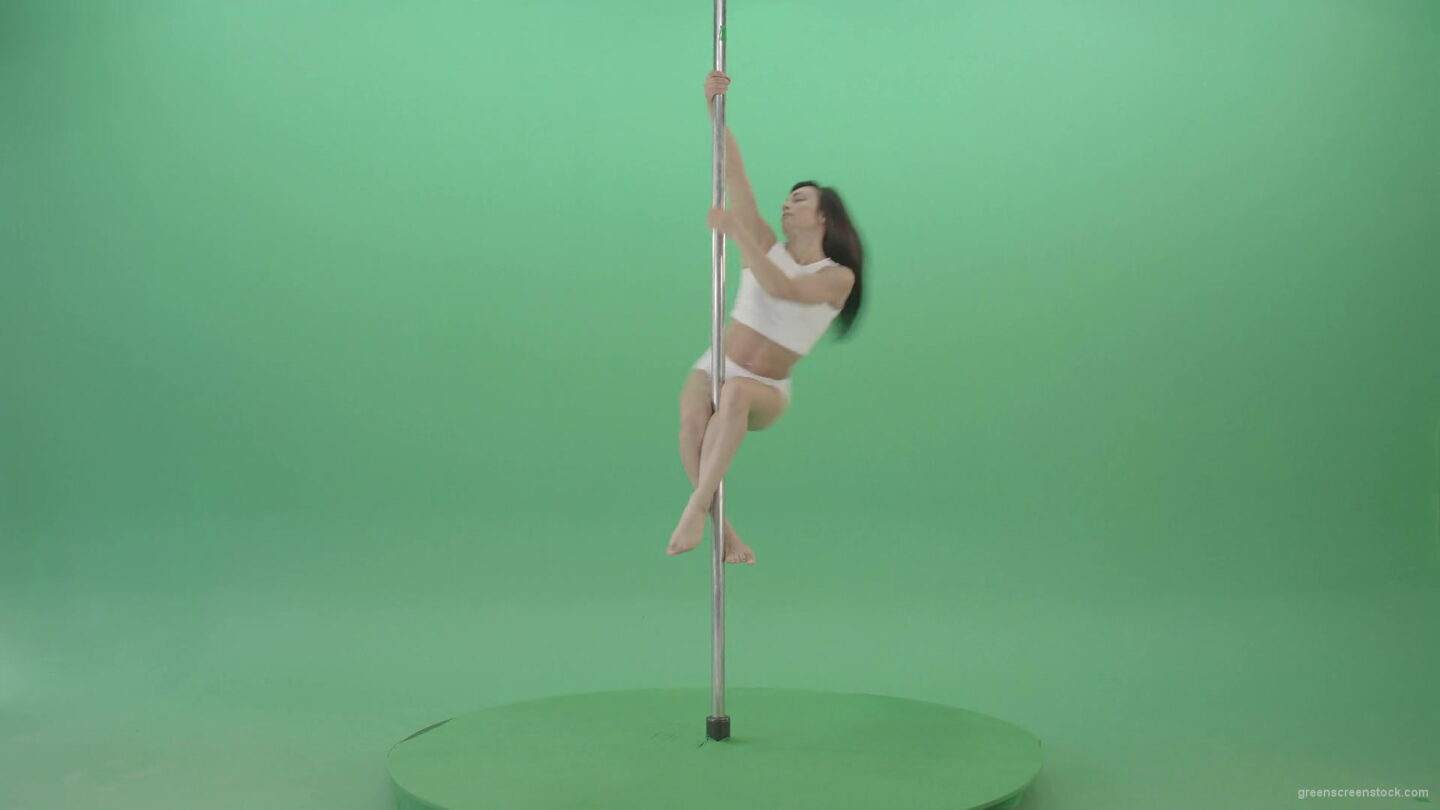vj video background Pole-dance-trainer-girl-has-a-sport-flight-on-green-screen-4K-Video-Footage-1920_003