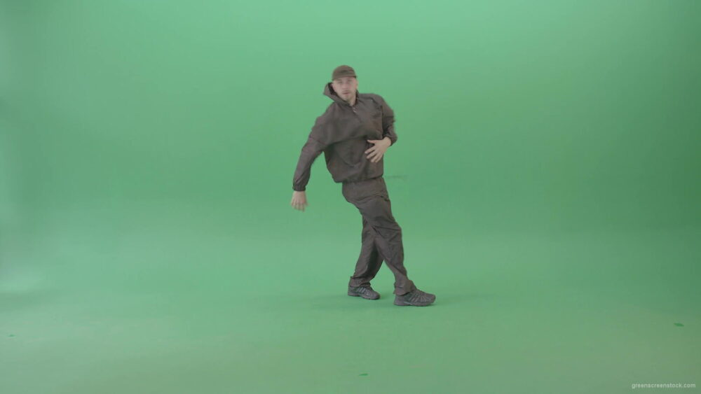 Professional-Hip-Hop-break-dancer-Stylish-man-dancing-on-green-screen-4K-Video-Footage-1920_009 Green Screen Stock