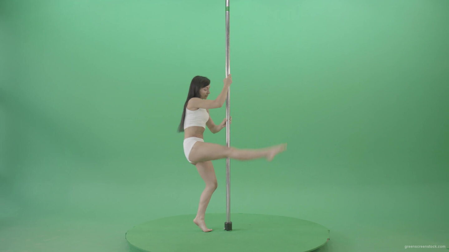 vj video background Sexy-moves-by-pole-dance-girl-dancing-on-green-screen-Video-Footage-1920_003