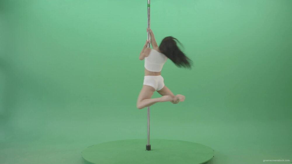 vj video background Small-Girl-make-spin-pole-fly-isolated-on-green-screen-4K-Video-Footage--1920_003