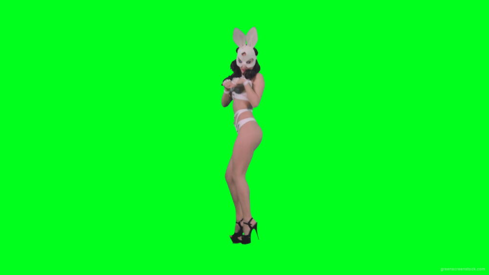 vj video background Young-girl-in-rabbit-costume-jumping-and-spinning-on-green-screen-4K-Video-Footage-1920_003