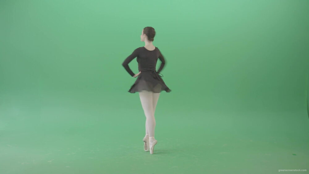 vj video background Ballet-Art-Ballerina-girl-spinning-in-dance-on-green-screen-4K-Video-Footage-1920_003