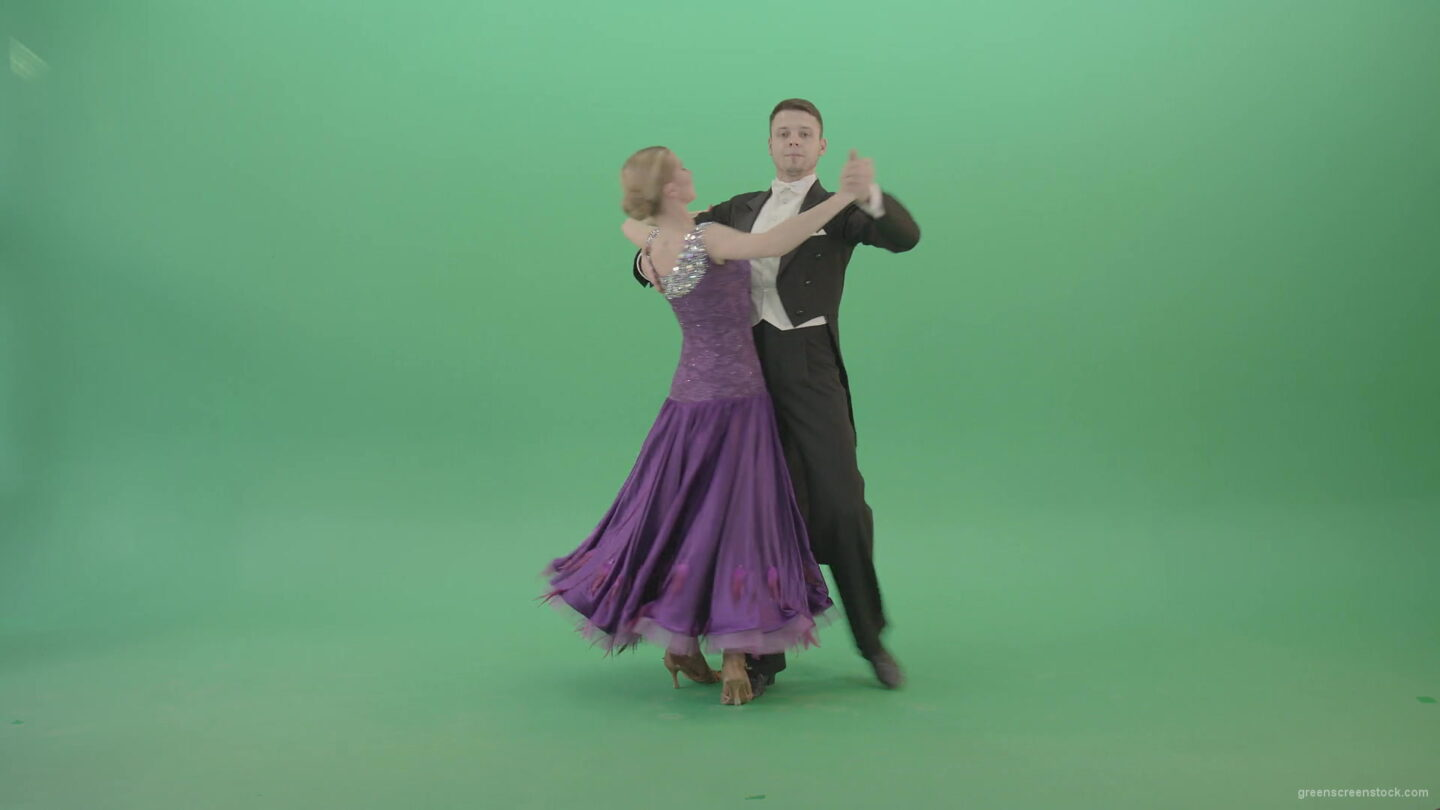 Ballroom-dancing-couple-spinning-in-Waltz-Valse-on-green-screen-4K-Video-Footage-1920_009 Green Screen Stock
