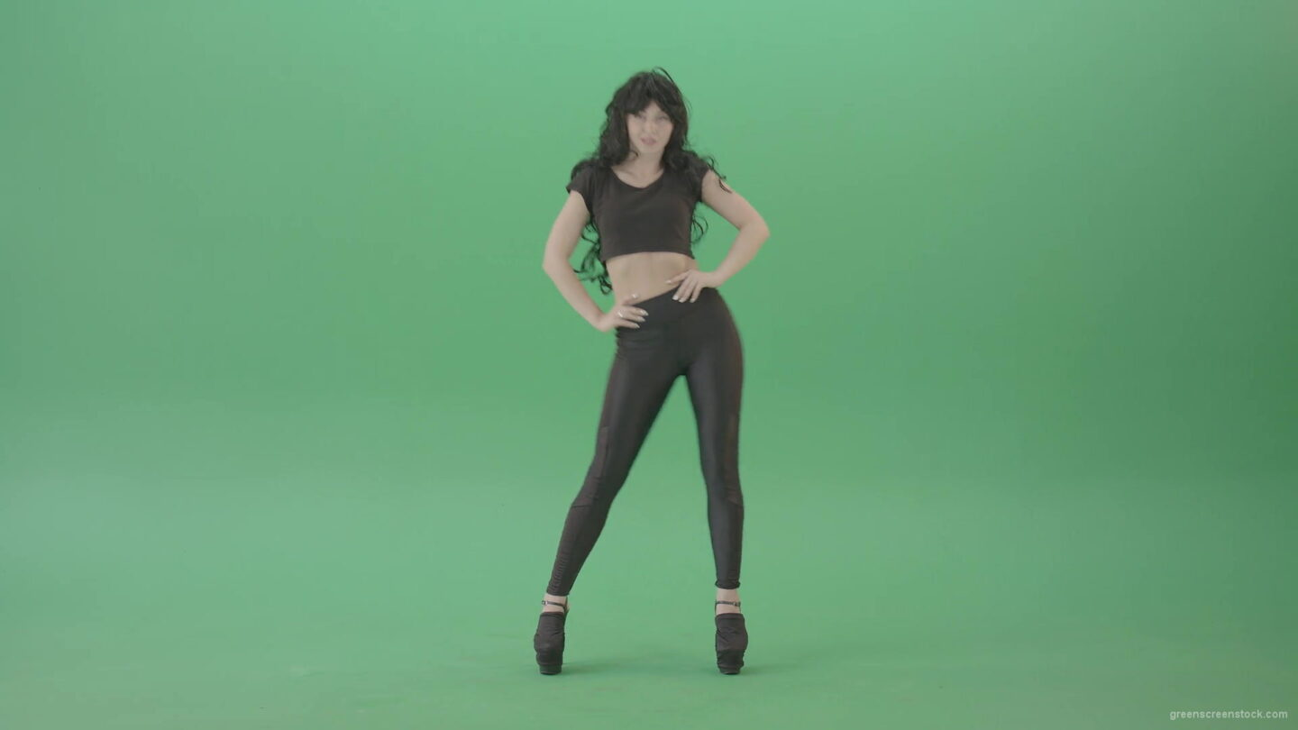 vj video background Black-Hair-girl-on-green-screen-waving-hips-posing-sexy-4K-Video-Footage-1920_003