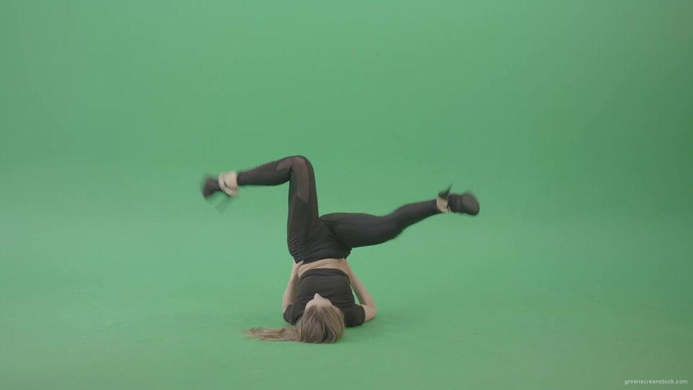 vj video background Girl-in-black-body-dress-waving-legs-on-green-screen-4K-Video-Footage-1920_003