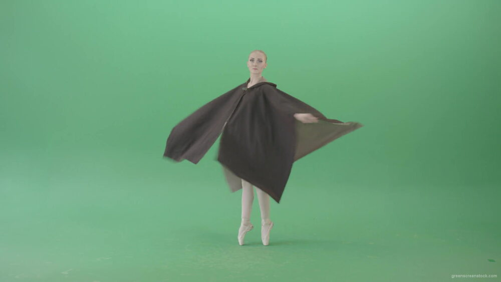 vj video background Green-Screen-Ballet-Girl-spinning-in-black-Mantle-cloak-4K-Video-Footage-1920_003