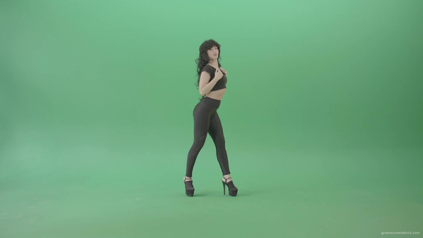 vj video background Green-Screen-Woman-in-black-latex-dress-sexy-dancing-4K-Video-Footage-1920_003