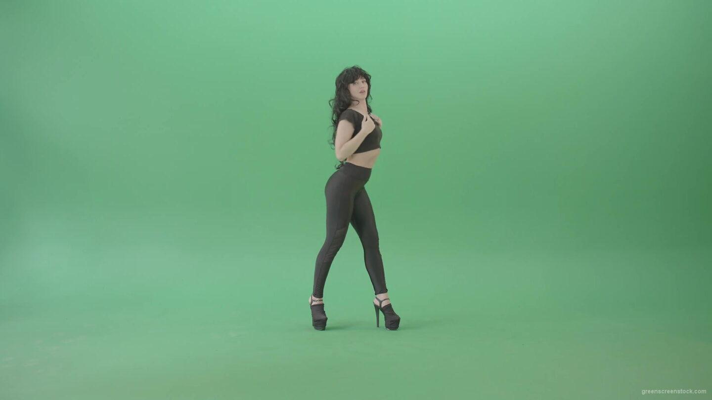 vj video background Green-Screen-Woman-in-black-latex-dress-sexy-dancing-4K-Video-Footage-1920_003