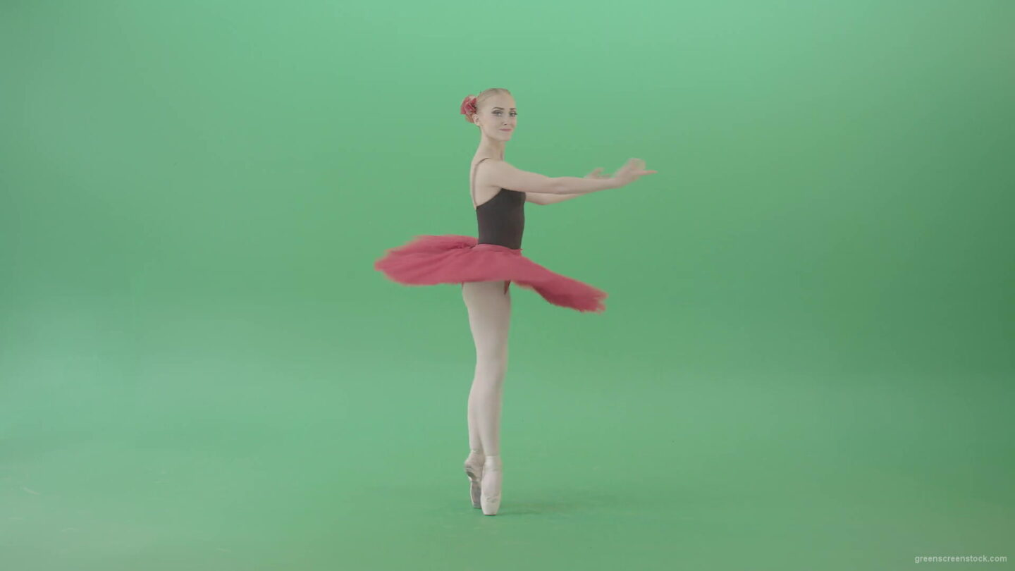 vj video background Happy-smiling-ballet-girl-ballerina-spinning-in-dance-on-green-screen-4K-Video-Footage-1920_003