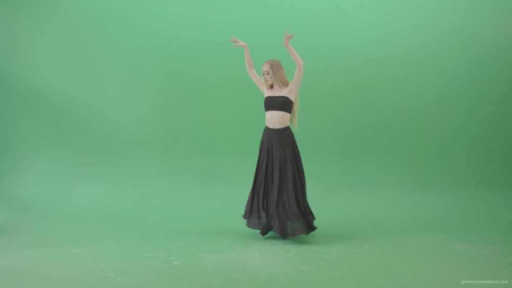 vj video background Hot-passion-ballet-girl-in-black-dress-dancing-on-green-screen-4K-Video-Footage-1920_003