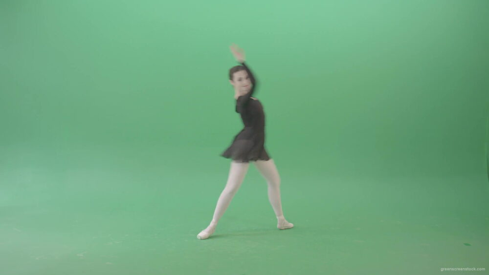 vj video background Russian-ballet-dancing-girl-in-black-body-wear-dress-dancing-isolated-on-green-screen-4K-Video-Footage-1920_003
