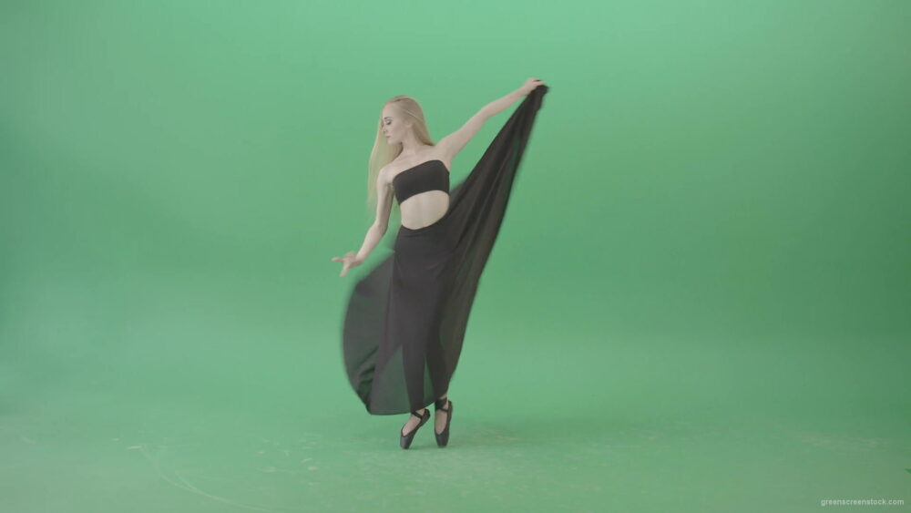 vj video background Spinning-isolated-on-green-screen-ballet-young-woman-ballerin-in-black-costume-4K-Video-Footage-1920_003