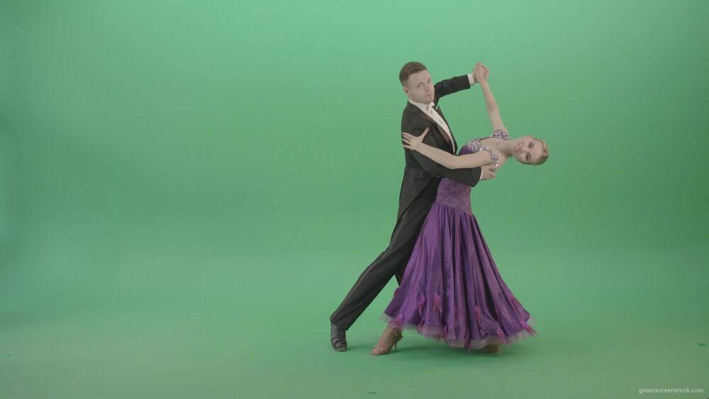 Ballroom-dancing-couple-spinning-щт-green-screen-in-Vienna-Waltz-Valse-4K-Video-Footage-1920_009 Green Screen Stock