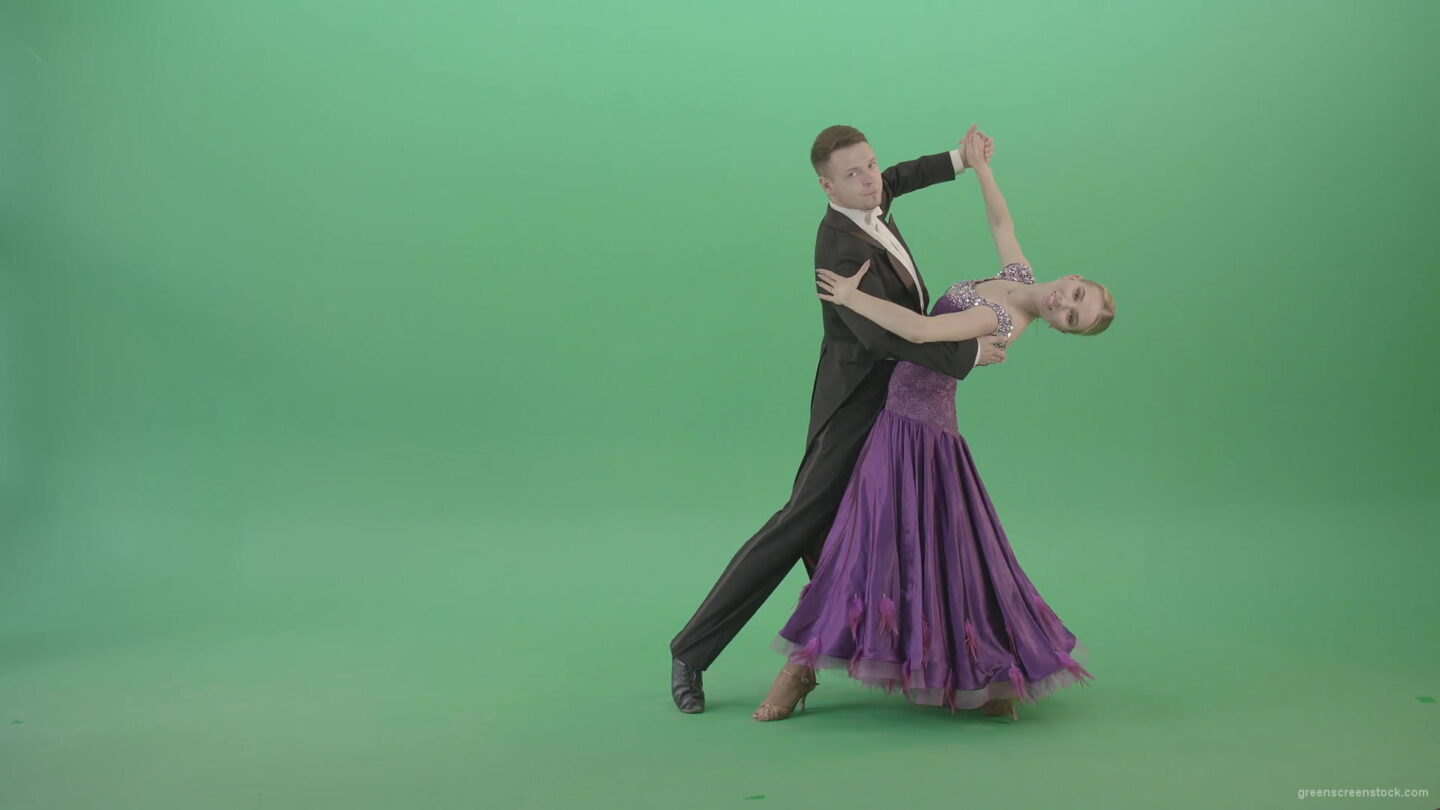 Ballroom-dancing-couple-spinning-щт-green-screen-in-Vienna-Waltz-Valse-4K-Video-Footage-1920_009 Green Screen Stock