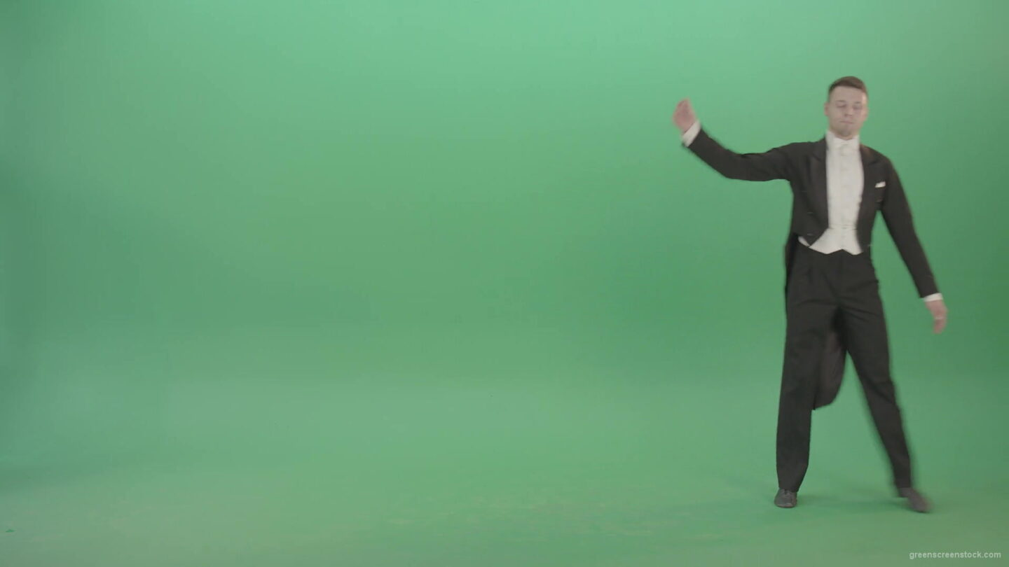 vj video background Green-Screen-man-makes-spin-reverence-in-black-suite-4K-Video-Footage-1920_003
