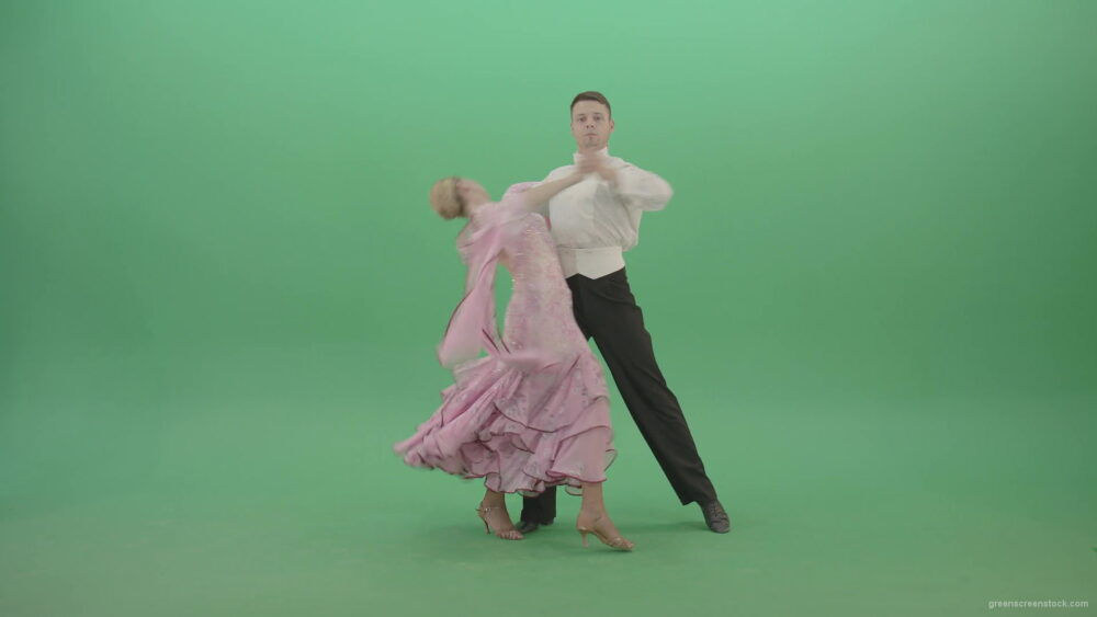 Ballroom-dancing-transition-on-green-screen-by-danced-Man-and-Woman-4K-Video-Footage--1920_006 Green Screen Stock