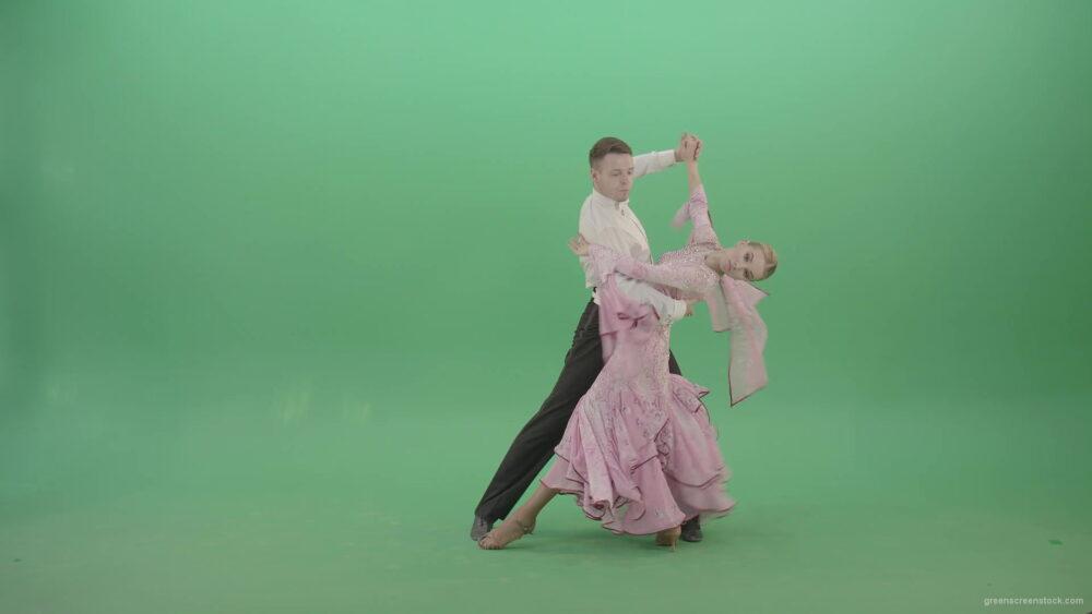 Foxtrot-Dance-by-man-and-woman-on-green-screen-ballroom-dance-4K-Video-Footage-1920_004 Green Screen Stock