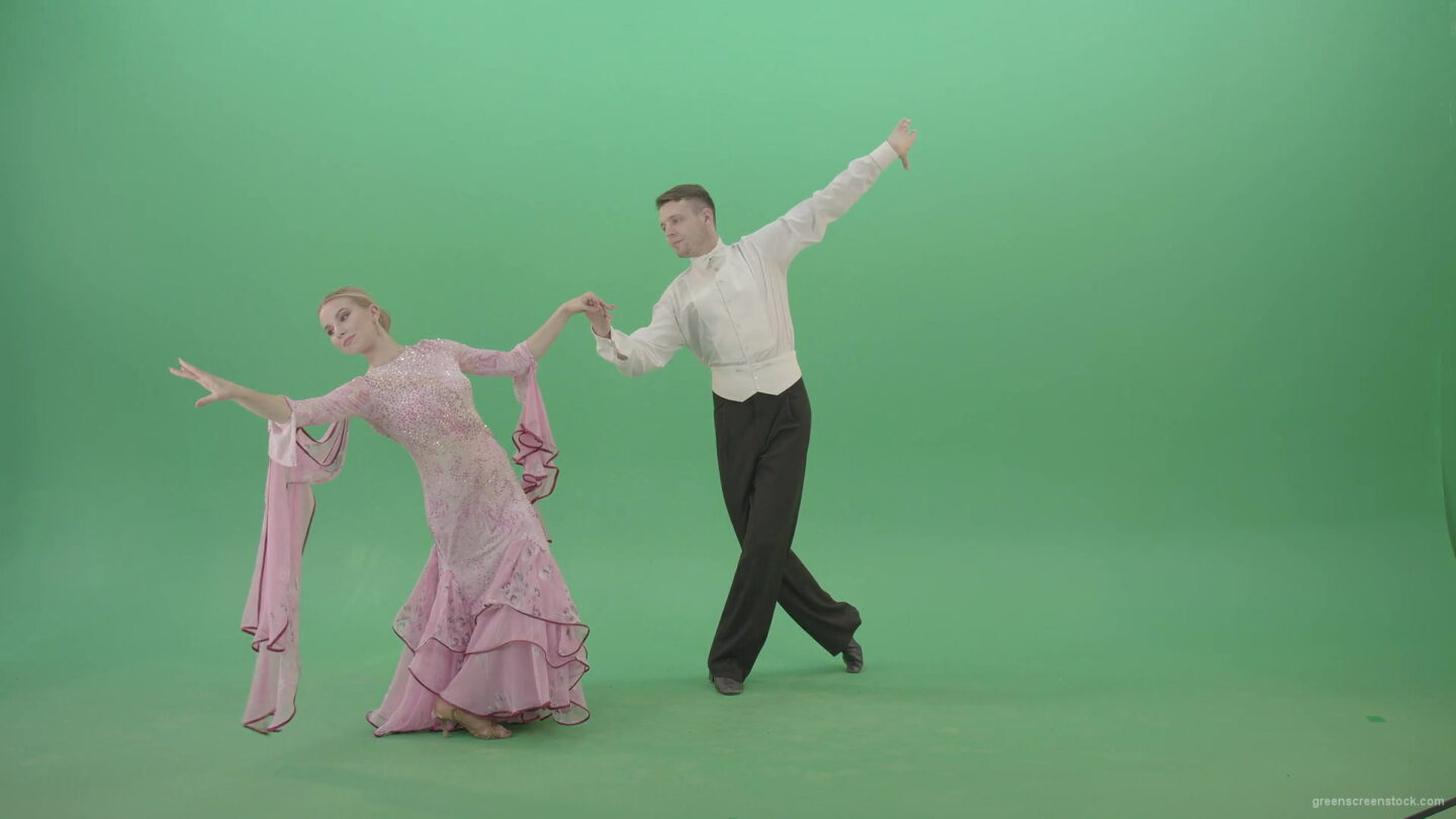 Luxury-ballroom-dance-partners-spinning-on-green-screen-making-open-element-4K-Video-Footage-1920_005 Green Screen Stock