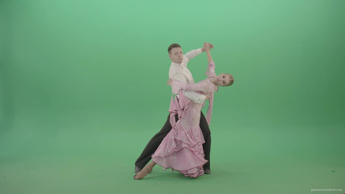 Luxury-ballroom-foxtrot-dance-by-young-couple-4K-Video-Footage-1920_006 Green Screen Stock