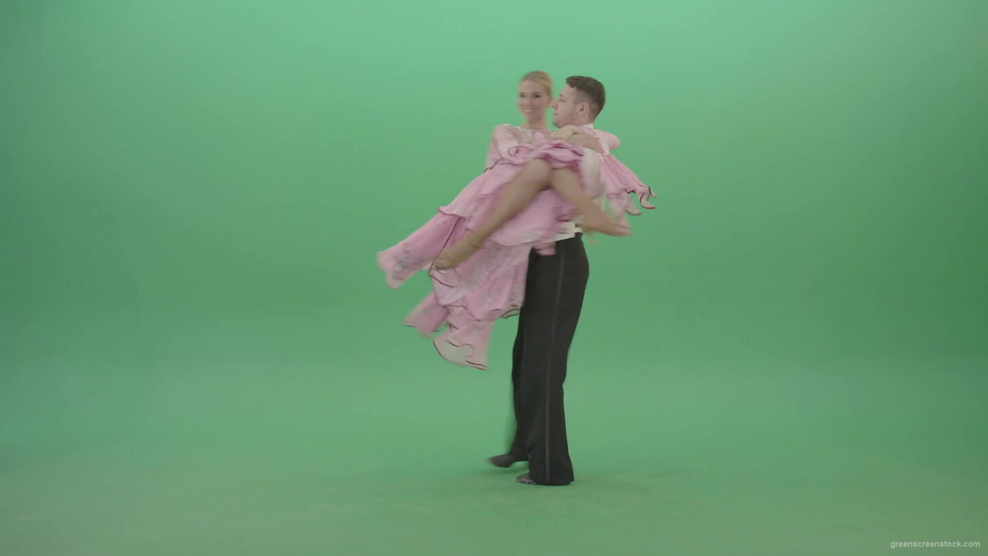 vj video background Wedding-Couple-happy-spinning-arroung-on-green-screen-4K-Video-Footage-1920_003