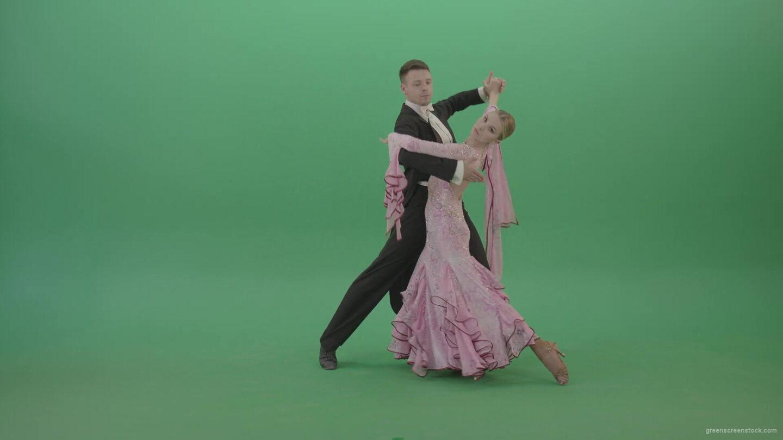 vj video background Beautiful-elegant-couple-dancing-ballroom-slow-valse-on-green-screen-4K-Video-Footage-1920_003