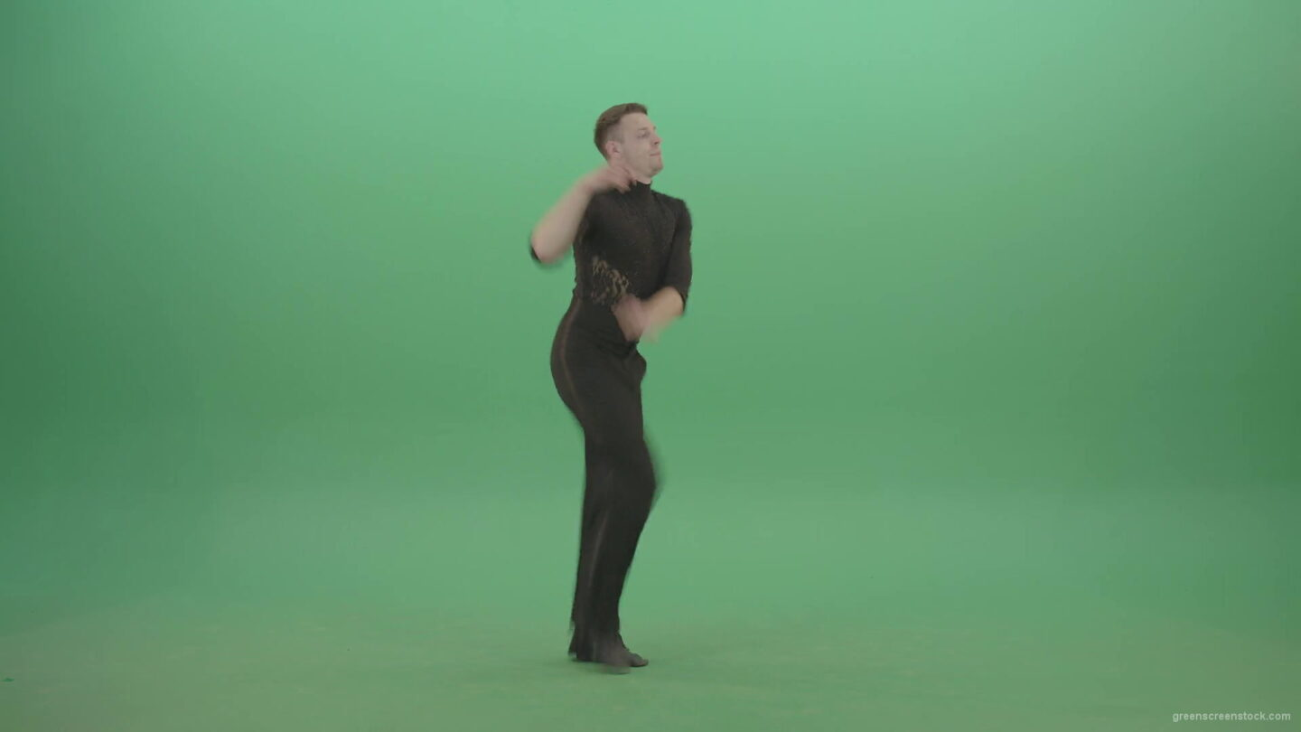 vj video background Energetic-quickstep-dance-man-stops-bow-and-continue-dancing-isolated-on-green-chromakey-1920_003